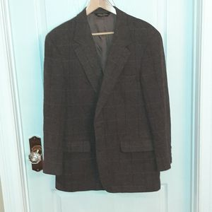 Brooks Brothers brown tweed blazer size 42R